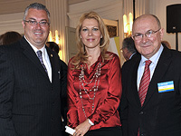 Dave Wenhold, President of the American League of Lobbyists, and Mate Granic, President of the Croatian Society of Lobbyists, Zagreb, 2010